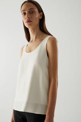 Cos Sheer Panel Silk Vest Top