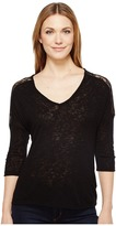 B Collection by Bobeau - Lottie Lace Trim Top Women's Short Sleeve Pullover