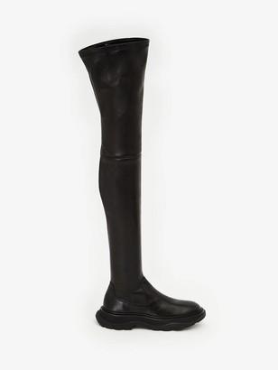 Alexander McQueen Thigh-High Tread Boot