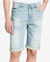 "Calvin Klein Jeans Men's Poolside Ripped Denim 10.5"" Stretch Shorts Created for Macy's"