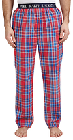 Polo Ralph Lauren Woven Cotton Check Lounge Pants, Red