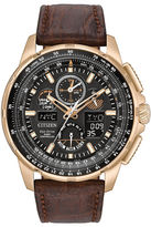 Citizen Eco-Drive Mens Rose Gold Tone Limited Edition Skyhawk A-T Strap Watch JY8056-04E