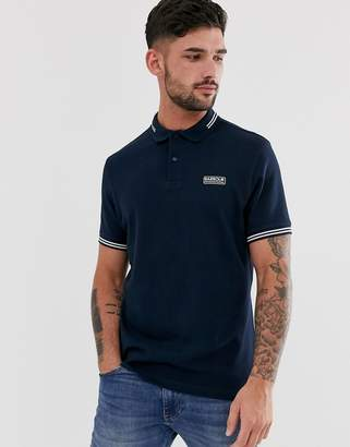 Barbour International essential tipped polo in navy