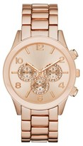 Mossimo Women's Crystal Accent Analog Watch with Decorative Dials - Rose Gold