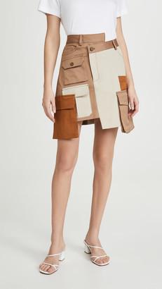 Monse Multi Color Patch Pocket Miniskirt