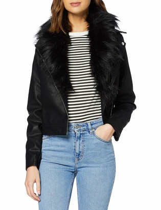 New Look Women's Mariah Ff Collar Pu Jacket Transitional