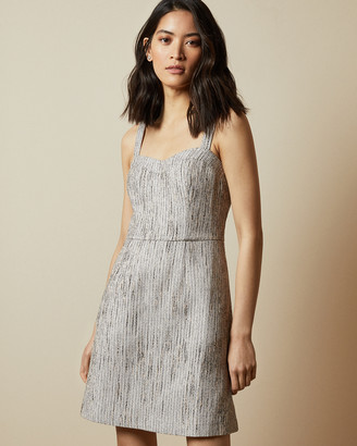 Ted Baker REARAY Textured mini dress