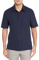 Nat Nast Men's Julep Regular Fit Silk & Cotton Sport Shirt