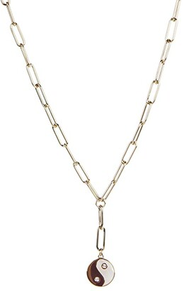 Rebecca Minkoff Ying-Yang Y-Necklace (Gold) Necklace
