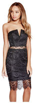 G by Guess GByGUESS Women's Avanna Lace Strapless Dress