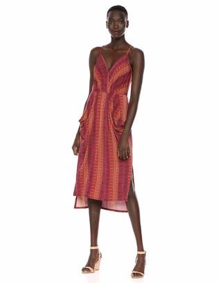 BCBGeneration Women's Folklore Stripes Surplice Midi Dress