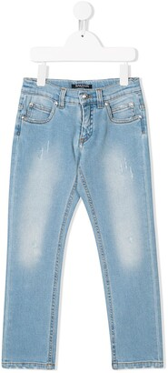 Balmain Kids washed out jeans