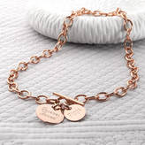 Charm & Chain Hurleyburley Personalised Rose Gold Charm Chain Necklace