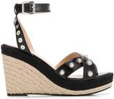 Mulberry embellished espadrille wedge sandals