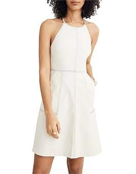 Madewell Structured Cross Back A-Line Dress