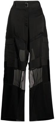 Sacai Oversized Paneled Pants