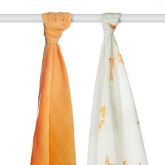 XKKO BMB Bamboo Towels Magenta Bubbles 90 x 100cm (Set of 2)
