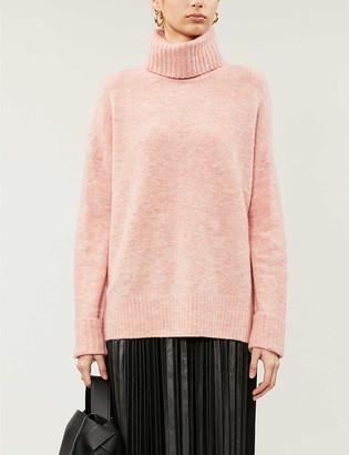 Whistles Oversized funnel-neck knitted jumper