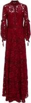 Lela Rose Full Sleeve Seamed Gown
