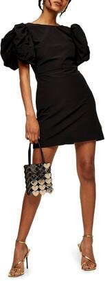Topshop Puff Sleeve Minidress