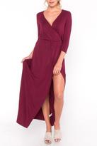 Everly Jersey Overlay Maxi Dress