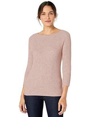 Lark & Ro 3/4 Sleeve Ballet Neck Rib SweaterXL