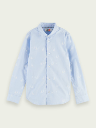 Scotch & Soda Printed slim-fit Oxford shirt | Boys