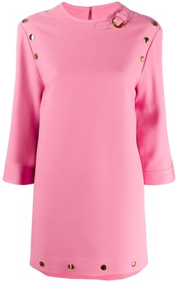 Gucci Button-Detail Mini Dress