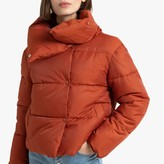 La Redoute Collections Short Padded Puffer Jacket with Oversized Collar and Pockets