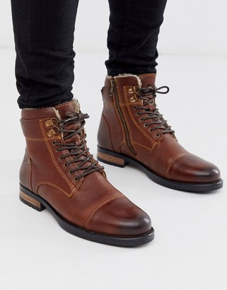 Silver Street leather hiker boot in brown