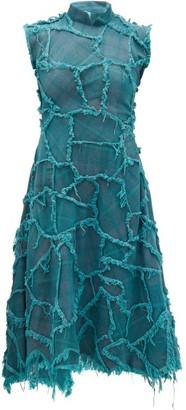Charles Jeffrey Loverboy Bash Crash Patchwork Cotton-canvas Dress - Womens - Blue