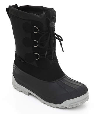 Sand Storm Women's Cold Weather Boots Black - Black Drawstring-Front Boot - Women