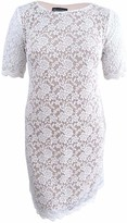 Connected Apparel Women's Elbow Sleeve Lace Dress