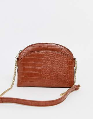 Pimkie across body bag with chain handle in camel-Beige