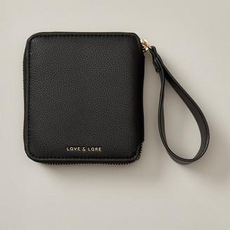 Love & Lore Love And Lore Looped Tab Wallet Black
