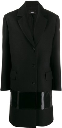 Yang Li Contrast Panel Single-Breasted Coat