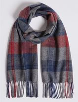 Marks and Spencer Overcheck Wool Woven Scarf