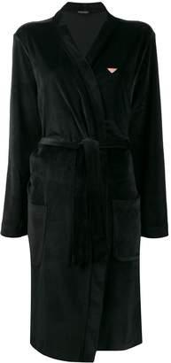 Emporio Armani velour robe