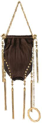 Gianfranco Ferre Pre-Owned fringed chains gathered tote