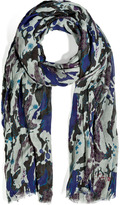 Zadig & Voltaire Camouflage Scarf in Grey