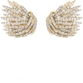 Hueb Pave Diamond Earrings