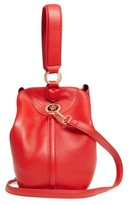 Sam Edelman Renee Leather Bucket Bag - Red