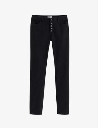 Claudie Pierlot Philomene straight high-rise stretch-cotton jeans