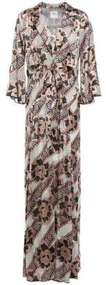 Anna Sui Printed Burnout Satin Kimono