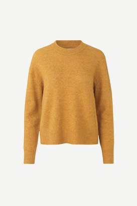 Samsoe & Samsoe Anour O neck sweater in Inca Gold - small | alpaca wool | gold sand - Gold sand
