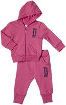 Diesel Sudyb 2 Piece Hoodie Set (Baby) - Pink Carnation-9 Months