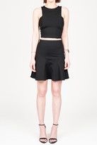 Donna Mizani Mini Flounce Skirt In Black