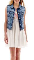 Arizona Sleeveless Embroidered Lace-Back Dress