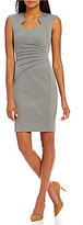 Calvin Klein Cap-Sleeve Starburst Sheath Dress