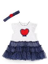Little Me Infant Girl's Heart Tutu Dress & Headband Set